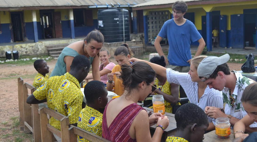 Projects Abroad volunteers doing a social work project help developing long term goals for the placement in Ghana.